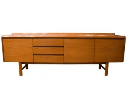 Danish Mid Century Teak Sideboard With Curve Top photo 1