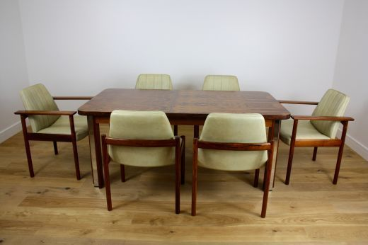 Mid Century Rosewood Dining Table And Chairs photo 1