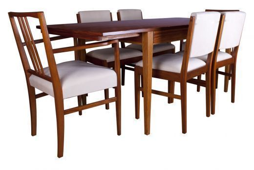 Gordon Russell Tulip Wood Dining Table And Six Chairs