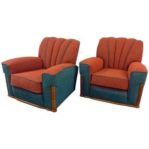Pair Of Art Deco Armchairs photo 1