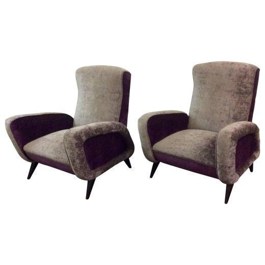 Pair Of Mid Century Italian Armchairs photo 1