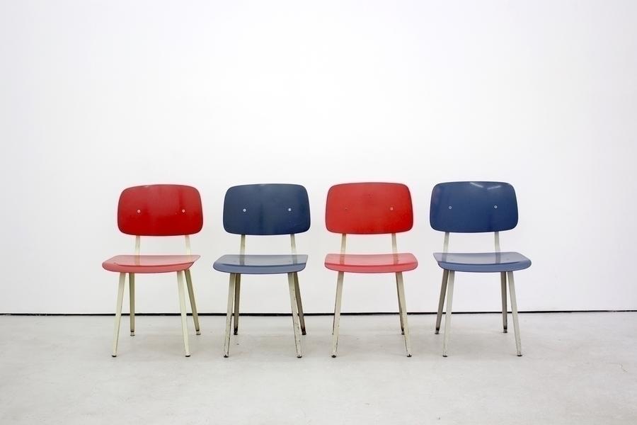 Set Of 4 Friso Kramer Revolt Chairs