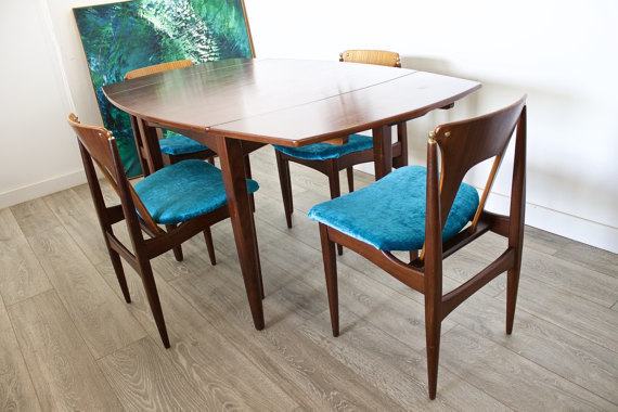 Pleasing Mid Century Retro Elliots Of Newbury Eon Dining Table 4 Dining Chairs Pabps2019 Chair Design Images Pabps2019Com