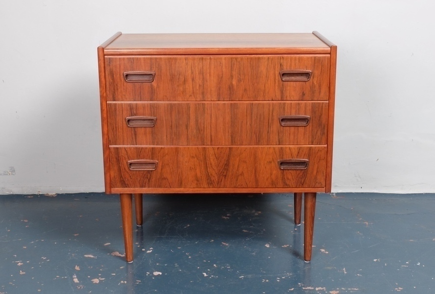 Rosewood Chest Of Drawers, Danish C1960