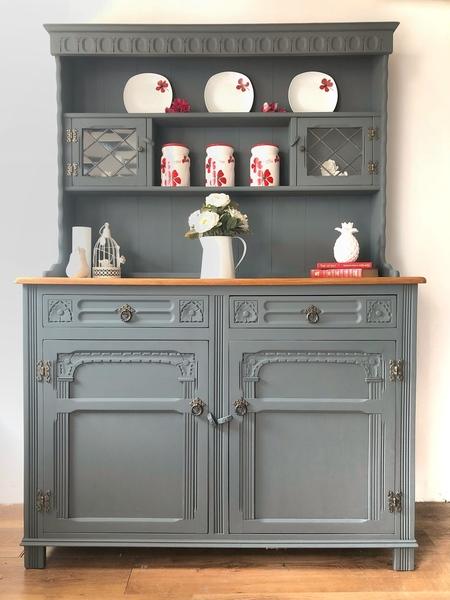 Old Charm Farmhouse Welsh Dresser/Grey Furniture,Kitchen ...