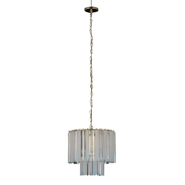 Elegant Modern Chandelier With Lucite Shades