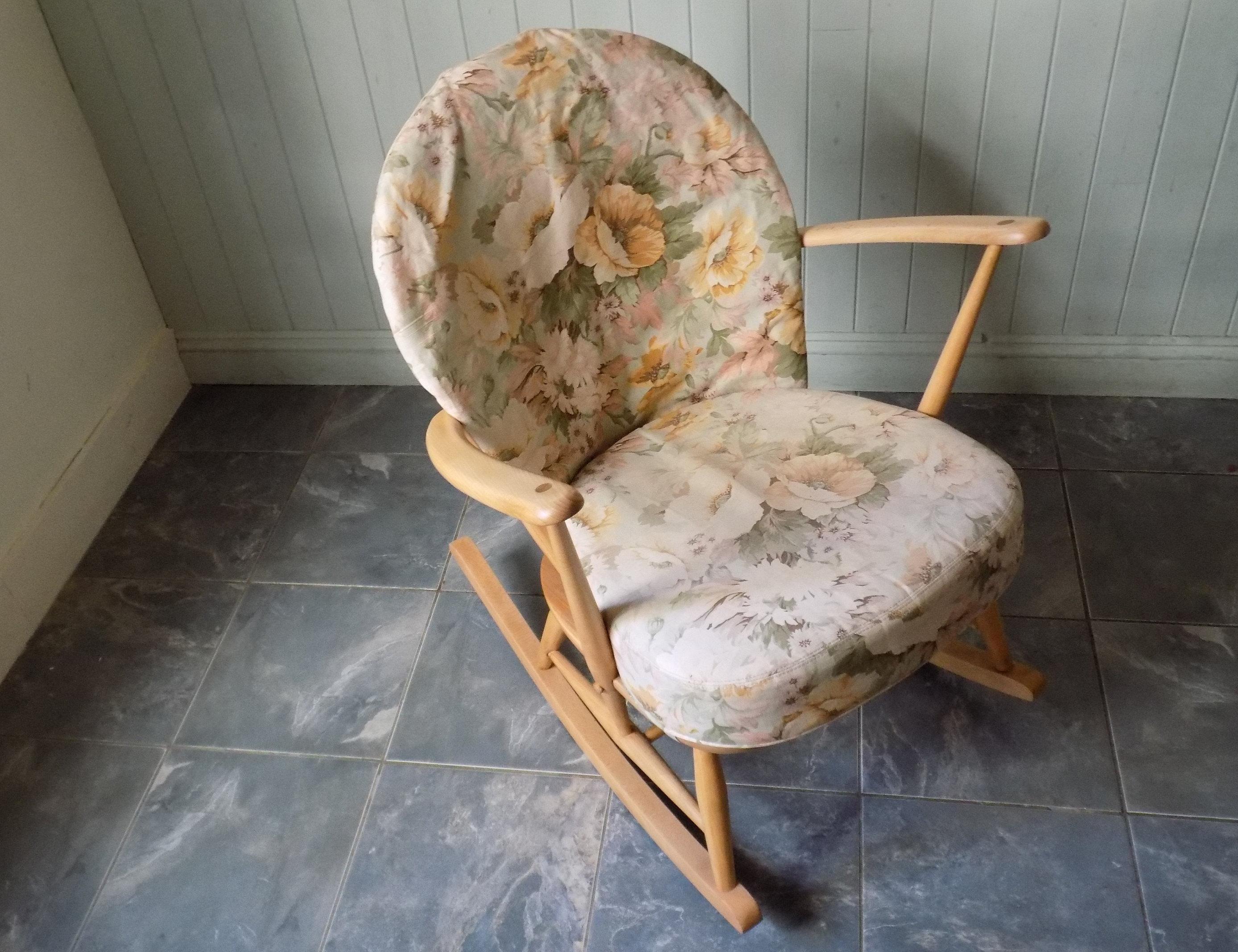 Tremendous 470 Ercol Tub Rocking Chair Vintage 1970S Mid Century Restored Evergreenethics Interior Chair Design Evergreenethicsorg