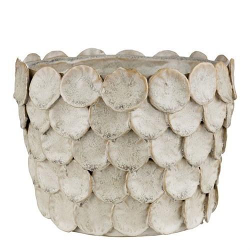 Hettie Flower Pot Silver Peony ø19x15 Cm