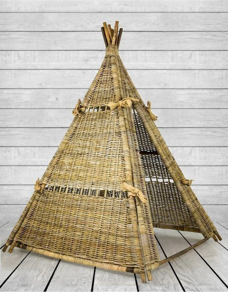 Rustic Natural Rattan Tipi/Wigwam. Eco Friendly. H173cm. Free Delivery.