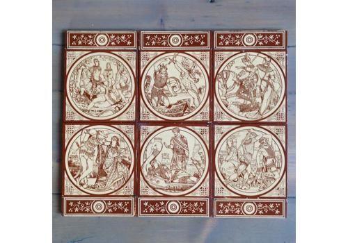 Original Antique Minton Tiles By John Moyr Smith