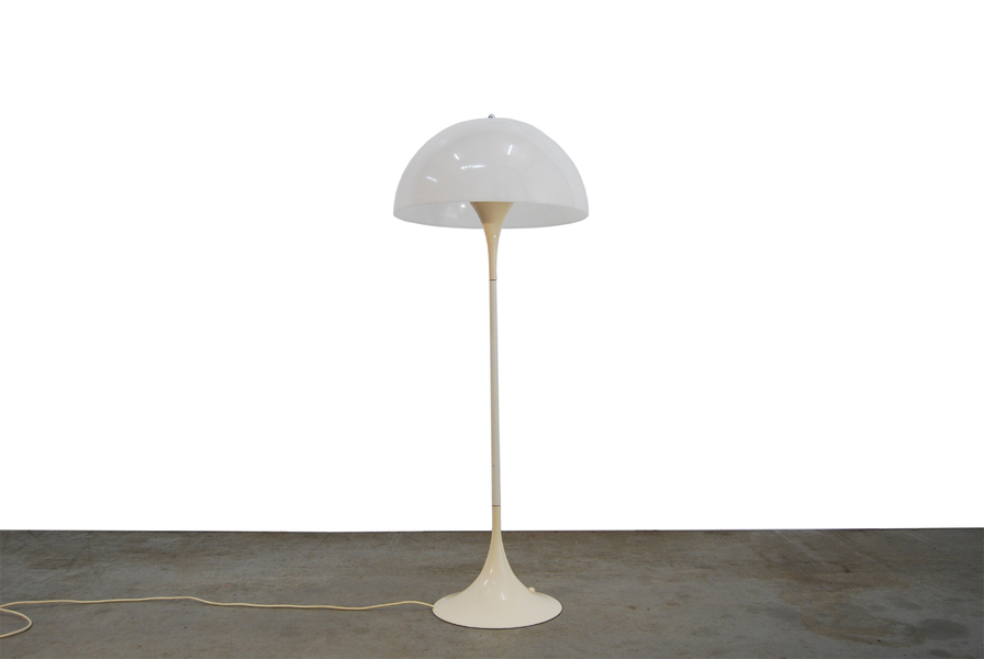 Vintage Design Floor Lamp Panthella By Verner Panton For Louis Poulsen, 1970s