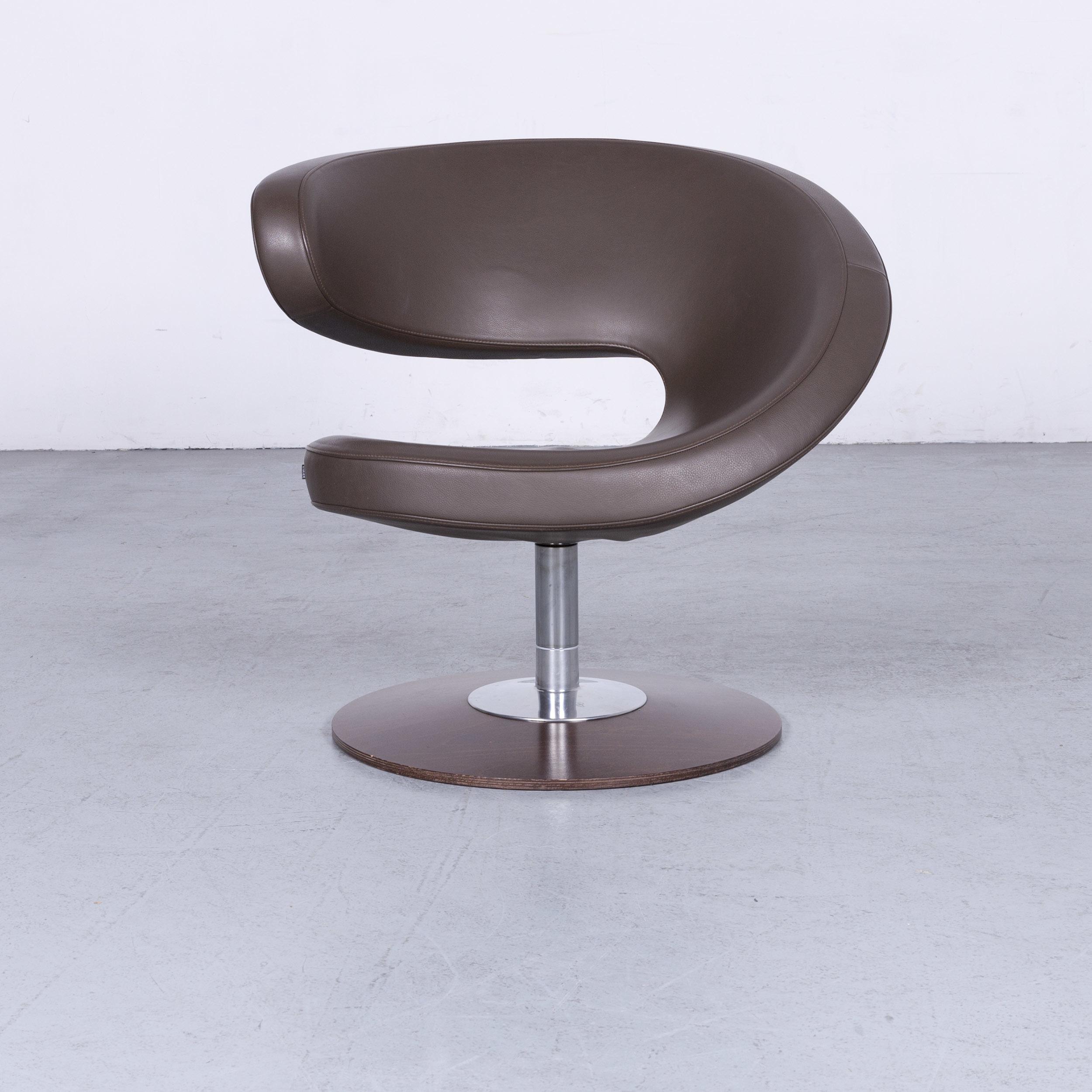 Poltrona Varier Peel.Varier Peel Designer Leather Armchair Set Brown Club Armchair Genuine Leather Chair 6684
