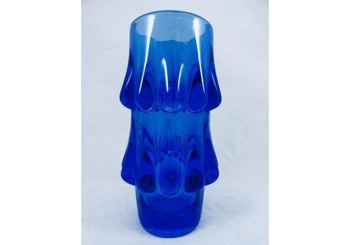 Blue Art Glass Vases By Jiri Brabec For Sklo Union Rosice   1970 S