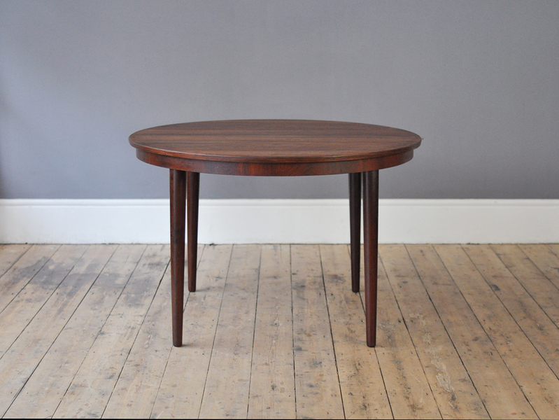 Round Rosewood Dining Table