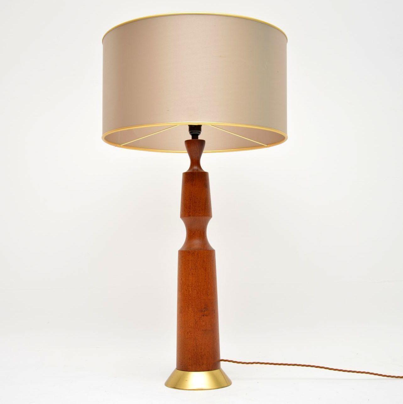 Pair 1960s Teak Table Lamp Bases