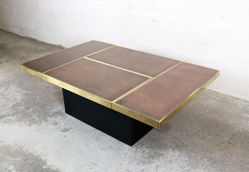 Willy Rizzo Coffee Table.Vintage Coffee Table With Hidden Bar By Willy Rizzo