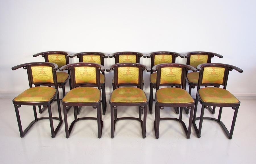 Ten Wittmann, Austria Fledermaus Dining Room Chairs Designed By Josef Hoffman