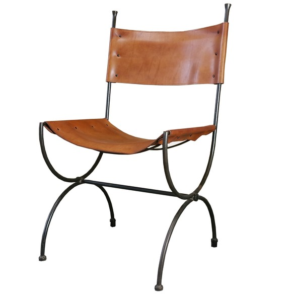Charleston Forge Saddle Leather Embassy Chair Ch5 Hand Made