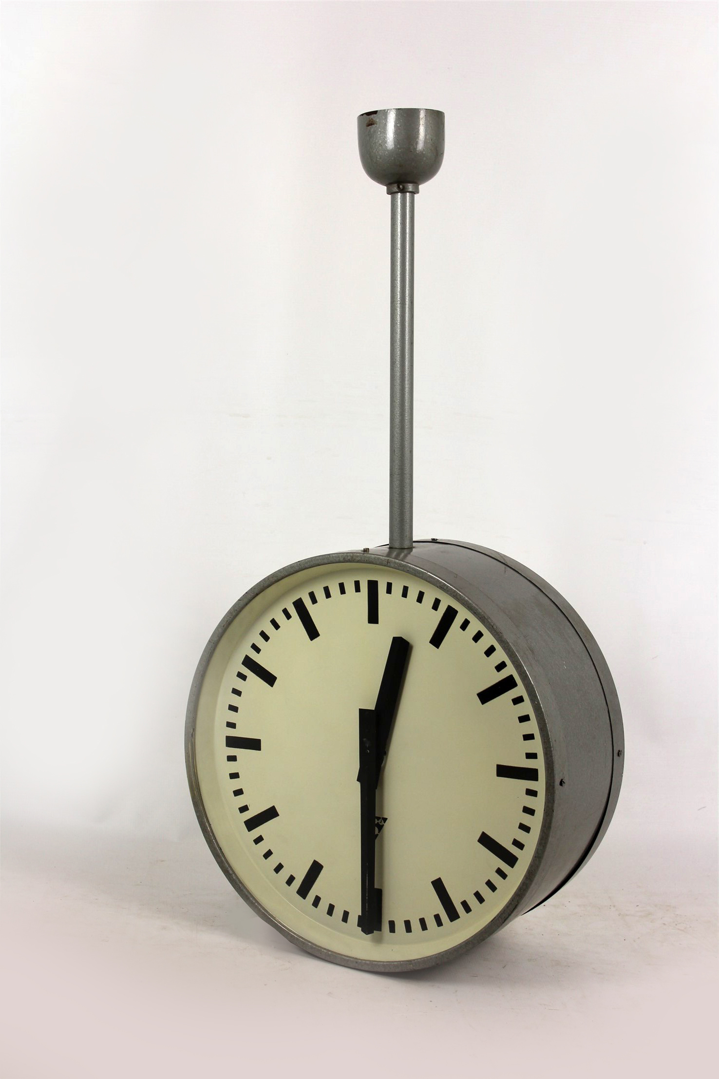Large Double Sided Railway Clock From