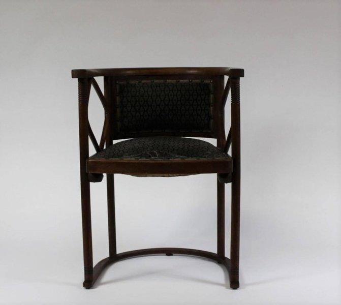 Josef Hoffmann Fledermaus Chair, Model No. 728, J. & J. Kohn 1913