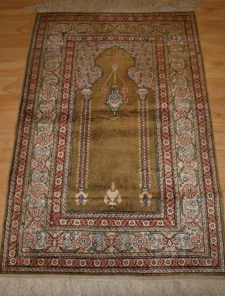 Turkish Kayseri Art Silk Prayer Rug