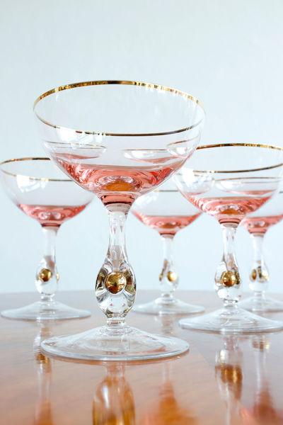"""Champagne Glasses """"Zlatá Zuzana"""", 1960s"""