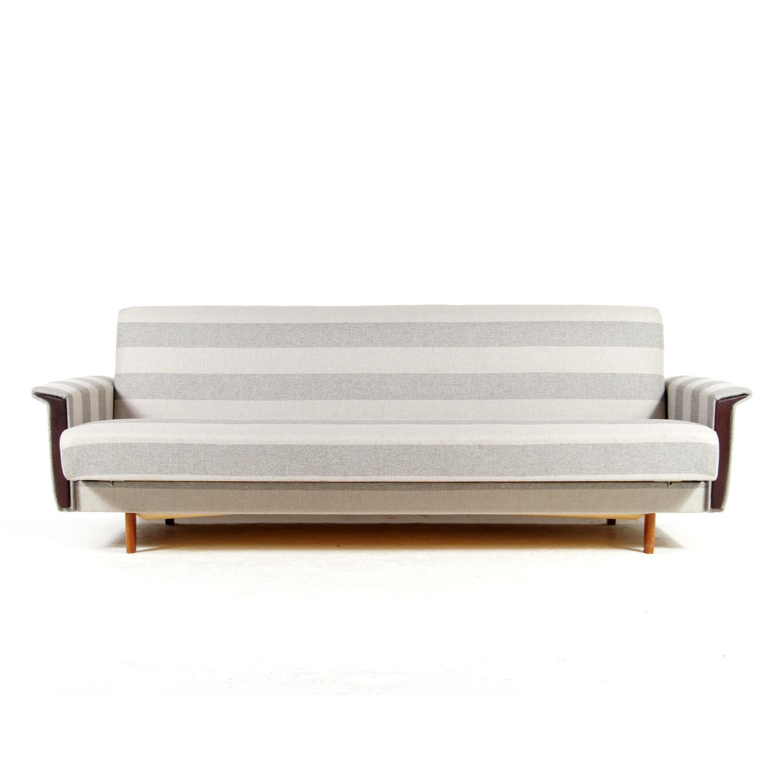 retro vintage danish teak daybed double sofa bed studio couch 50s 60s futon 70s vinterior