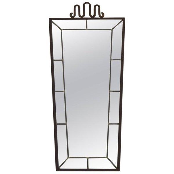 1930s Art Deco Wrought Iron Mirror