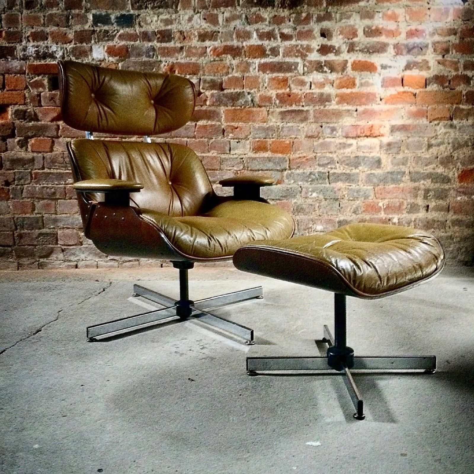 Astonishing Mid Century Selig Plycraft Lounge Chair Ottoman Eames Style Circa 1960S Pdpeps Interior Chair Design Pdpepsorg