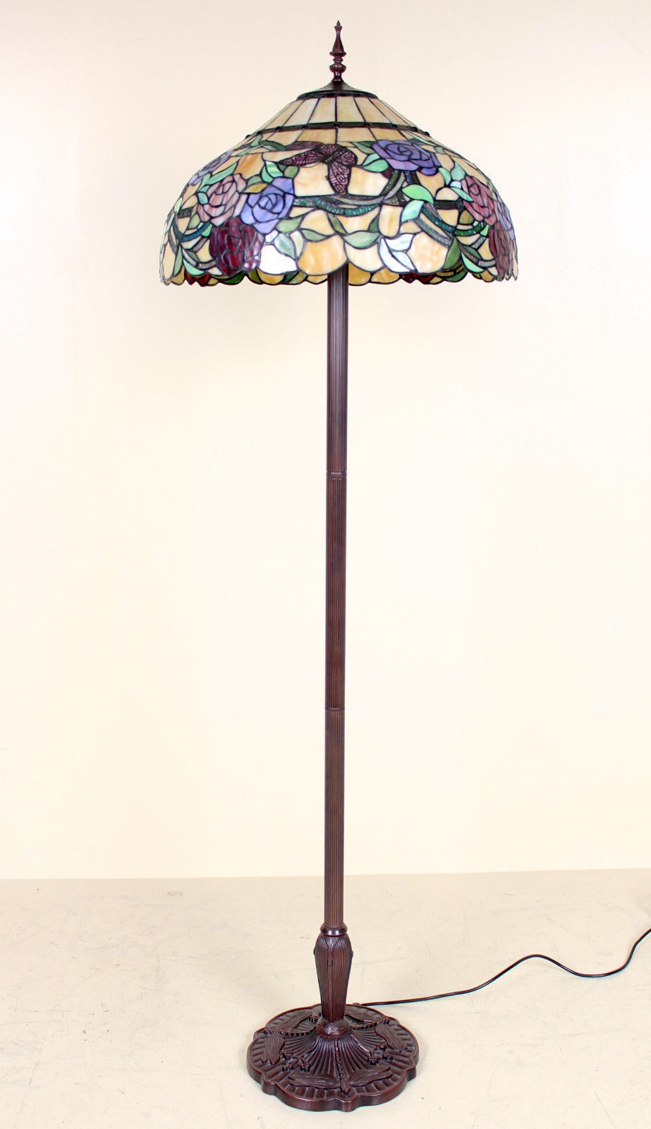 Tiffany Floor Lamp Stained Gl