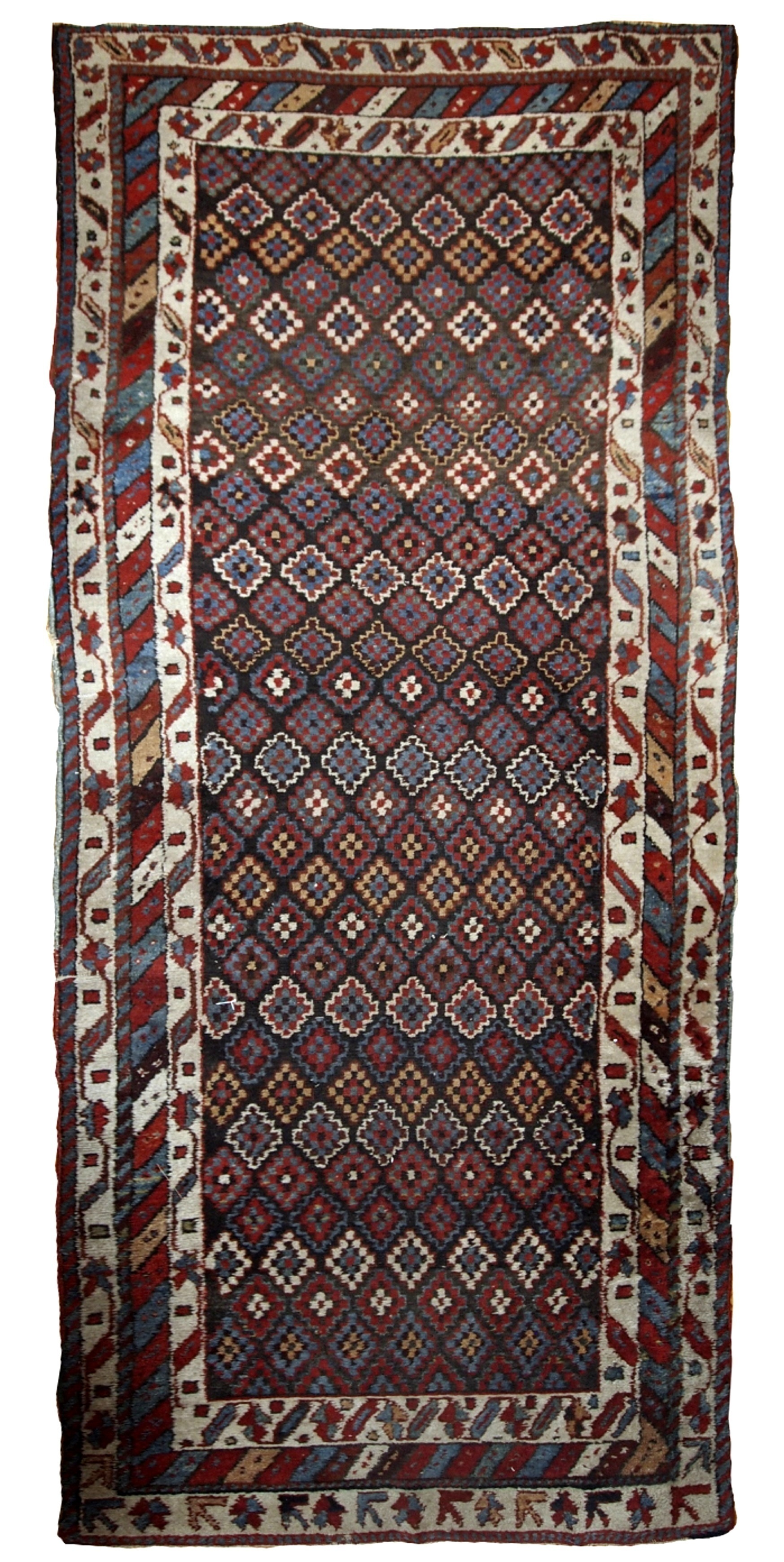 Handmade Antique Northwest Persian Rug 4 2 X 9 1 128cm X 277cm 1880s