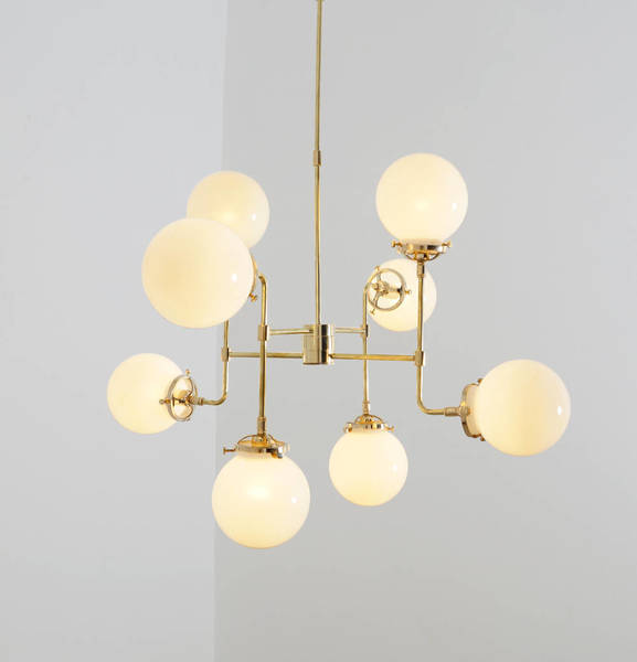Avi Modern Industrial Chandelier Mid Century Modernist Ceiling Lamp 8 Light.