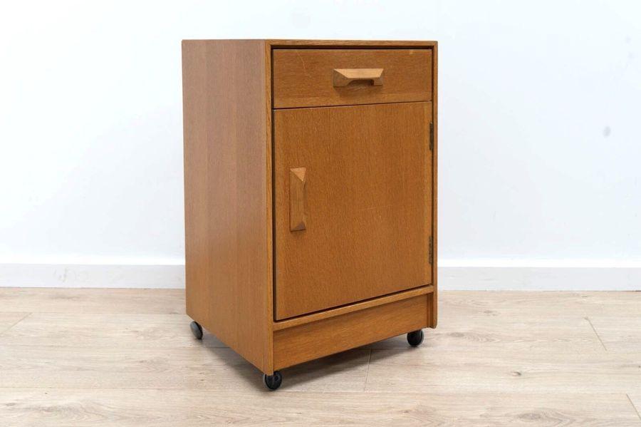 Mid Century Vintage Blonde Teak Stag Bedside Cabinet 1960 S 344