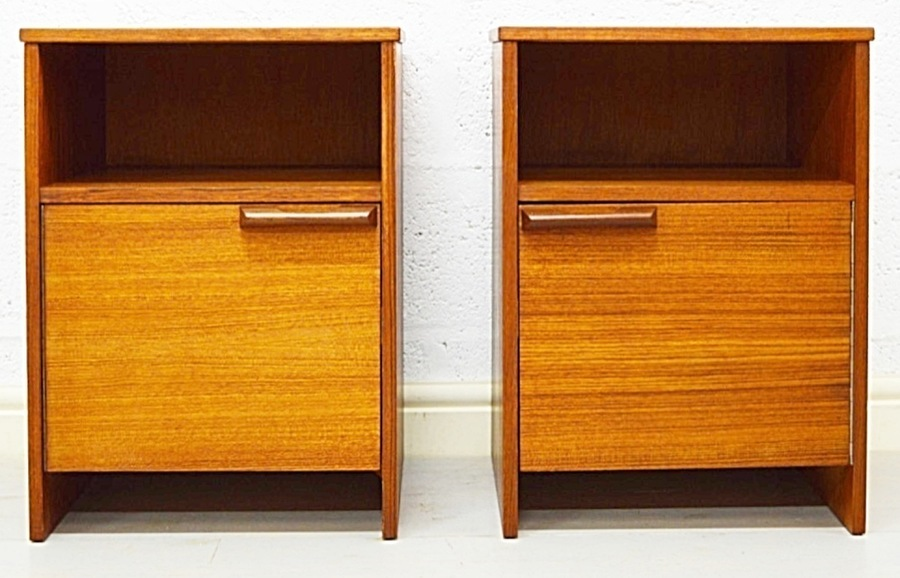 Mid Century Bedside Cabinets By Avalon