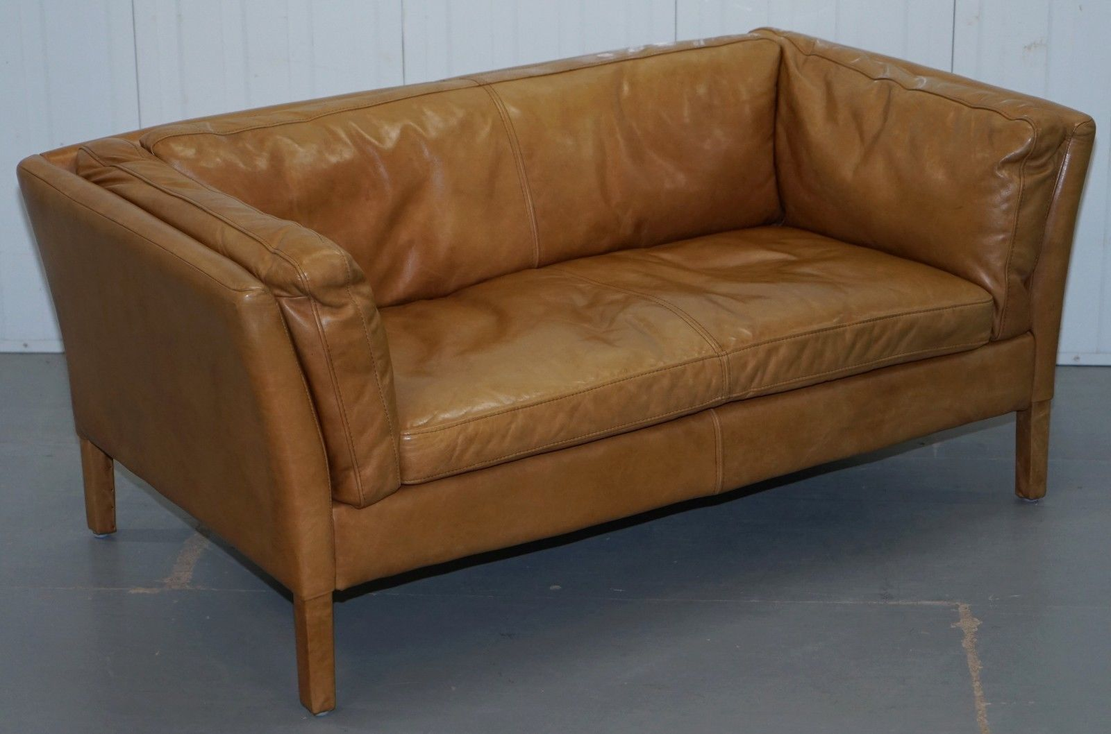 Terrific Halo Groucho Leather Small 2 Seater Sofa Matching Armchair Available Lamtechconsult Wood Chair Design Ideas Lamtechconsultcom