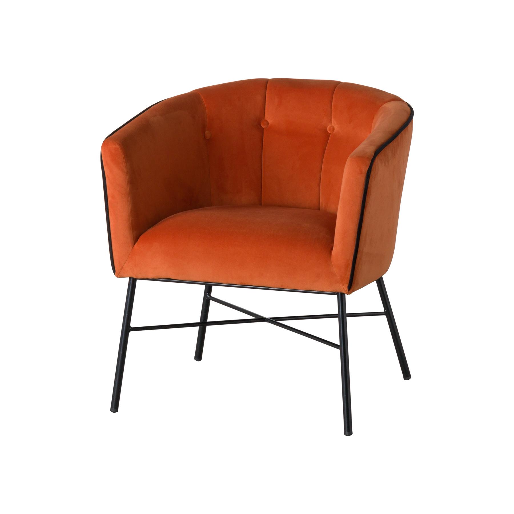 Amazing Free Shipping Rust Orange Velvet Occasional Accent Chair Armchair In Mid Century Modern Style Creativecarmelina Interior Chair Design Creativecarmelinacom