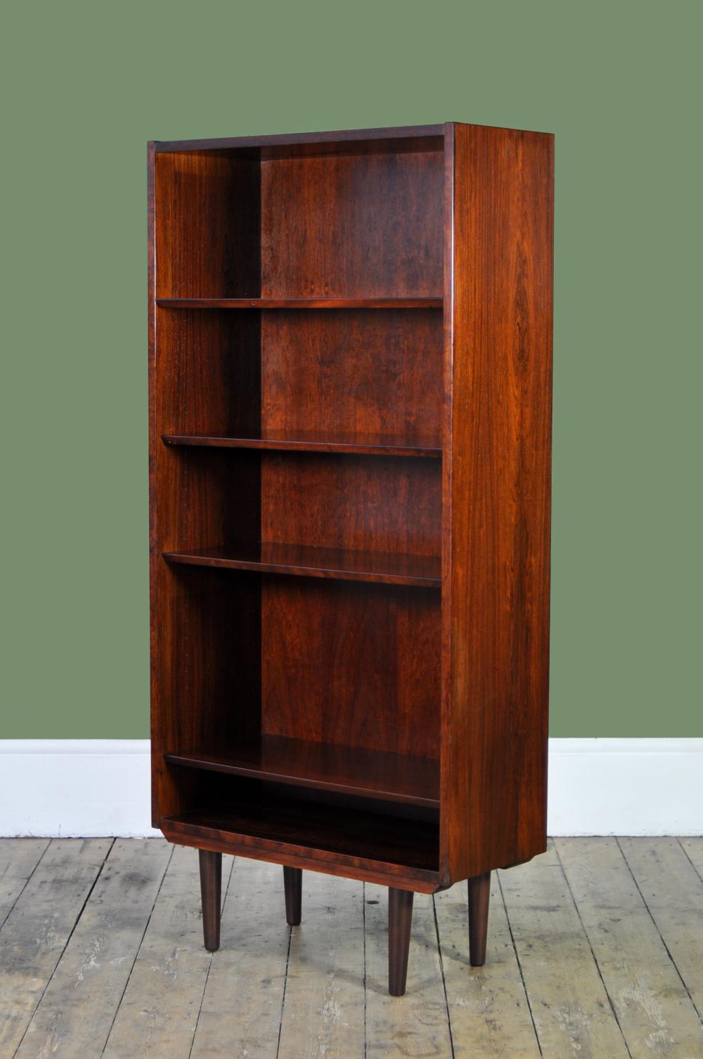 Danish Mid Century Tall Rosewood Bookcase