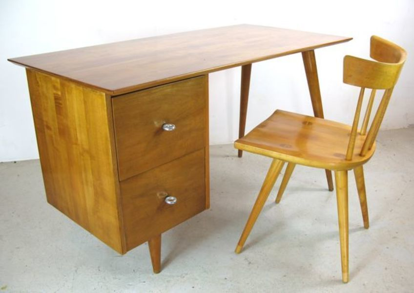 Paul Mc Cobb Desk And Matching Chair For Winchendon Furniture Co