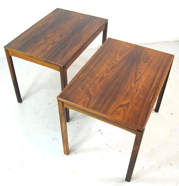 Pair Of Danish Rosewood Side Tables