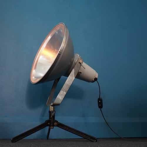 Large Industrial Light, On Stand