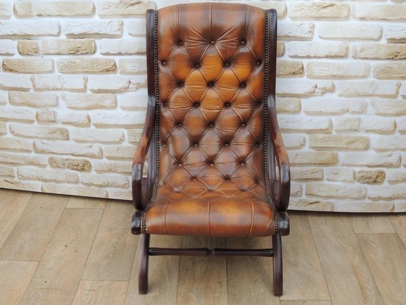 Fantastic Chesterfield Antique Brown Slipper Chair Creativecarmelina Interior Chair Design Creativecarmelinacom