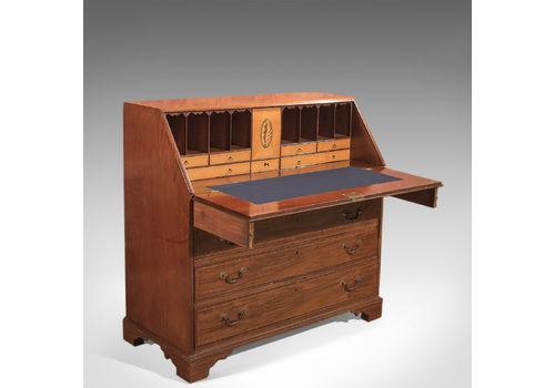 Antique Bureau, Georgian Mahogany Desk, Writing Table, English, C.1780