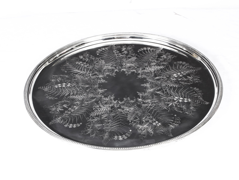 Antique Victorian Silver Plated Tray Mappin & Webb C1860 photo 1