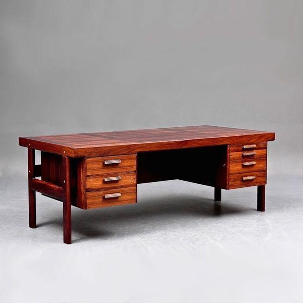 Large Danish Rosewood Desk By Arne Vodder For Sibast photo 1