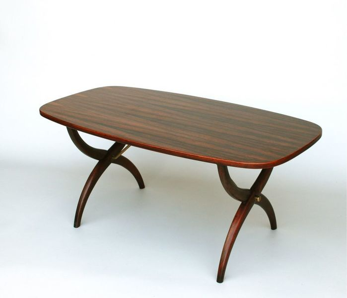 Coffee Table In Rosewood With X Frame Legs photo 1