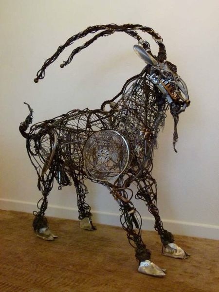 "Sculpture ""Mouli"" The Goat By Artist Richard Dawson Hewitt photo 1"