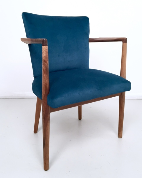 Excellent Vintage Teal Velvet Armchair Download Free Architecture Designs Scobabritishbridgeorg