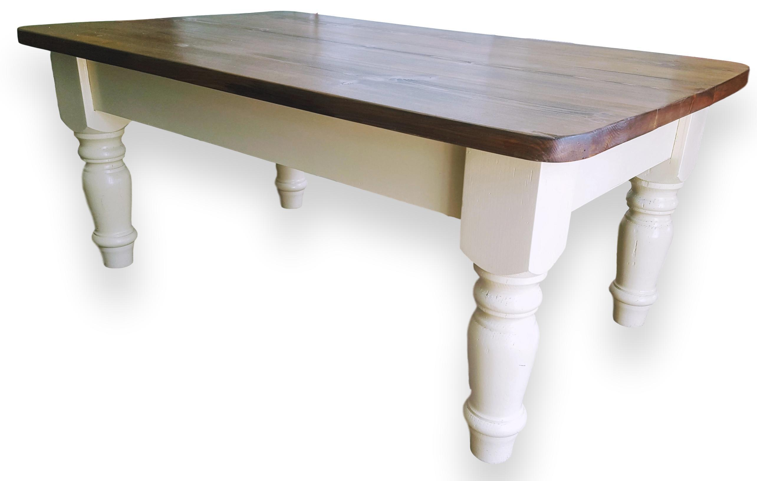 Solid Pine Coffee Table.Beautiful Painted Solid Pine Coffee Table