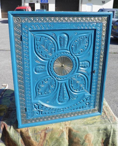 Antique Carved Oak Corner Cupboard photo 1