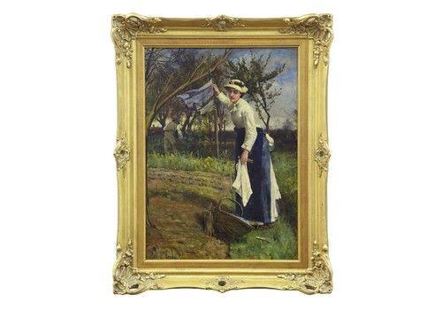 19 Th Century Oil On Canvas Rural Scene By John Robertson Reid